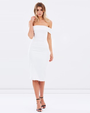 Atmos & Here – Highness Off the Shoulder Dress – Dresses (White)
