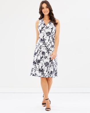 Sportscraft – Laila Stitch Floral Dress white