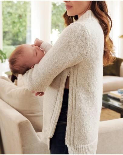 Ripe Maternity Cable Nursing Knit Snow