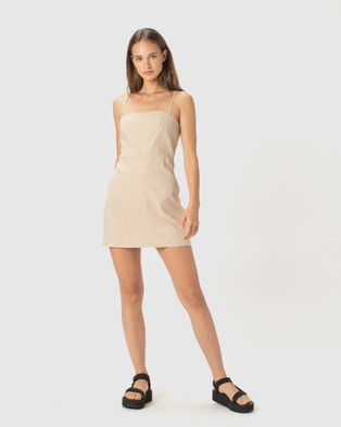Cools Club Fitted Shift Dress - Dresses (Natural)