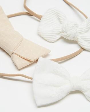 ArchNOllie Classic Bow Gift Set - Hair Accessories (White & Cream)