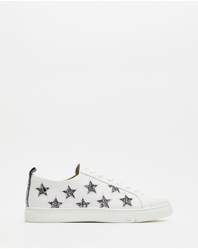 Walnut Melbourne Haven Leather Sneakers Glitter Star