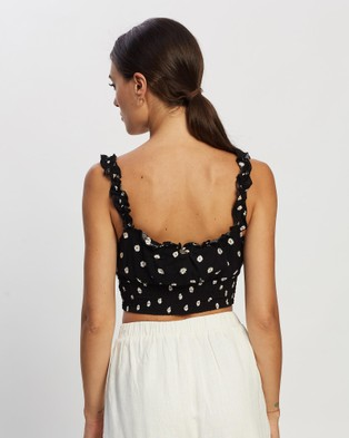 All About Eve Daisy Days Shirred Top - Cropped tops (PRINT)