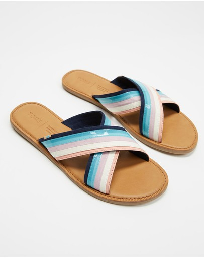 Toms Viv Sandals Navy Multi