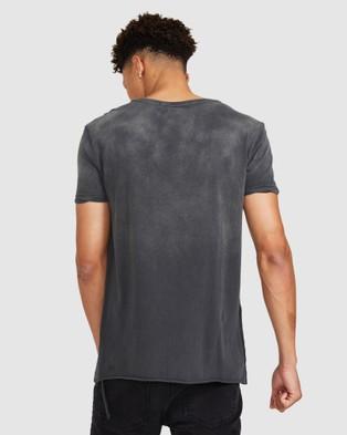 Ksubi Calm Seeing Lines T Shirt - Short Sleeve T-Shirts (GREY)
