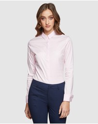 Oxford - Angel Pink Stretch Shirt