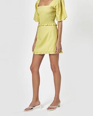 Charlie Holiday Lottie Mini Skirt - Skirts (Chartreuse)