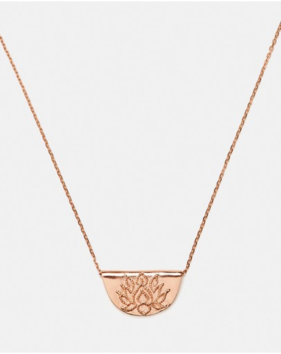 By Charlotte - Lotus Short Necklace