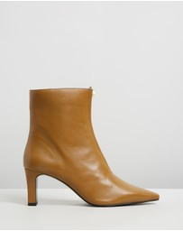 M.N.G - Zipped Detail Ankle Boots
