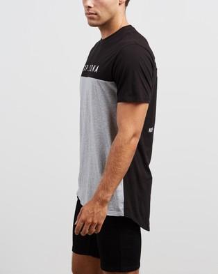 Nena & Pasadena Born Free Cape Back Tee - T-Shirts & Singlets (Black & Grey Marle)