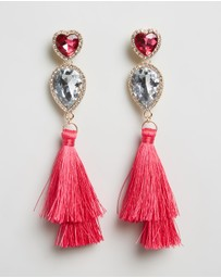 Johnny Loves Rosie - Tassel Statement Drop Earrings