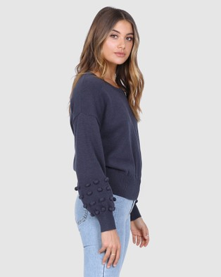 Madison The Label Sorrento Knit - Jumpers & Cardigans (Navy)