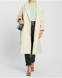 Missguided - Shawl Collar Coat with Side Splits