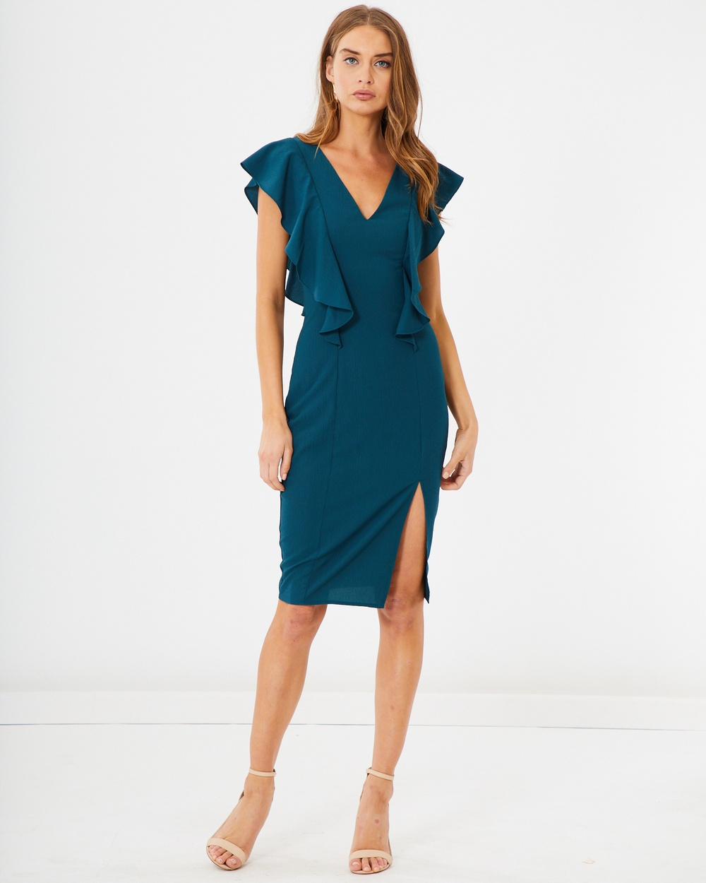 Tussah Camden Midi Dress Bodycon Dresses Teal Camden Midi Dress