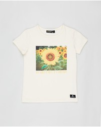 Rock Your Kid - ICONIC EXCLUSIVE - Be A Sunflower Short Sleeve Tee - Kids-Teens