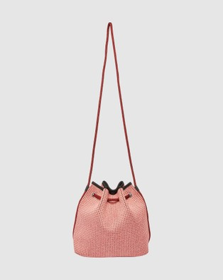 Chuchka Shira Neoprene Bucket Bag - Bags (Red)