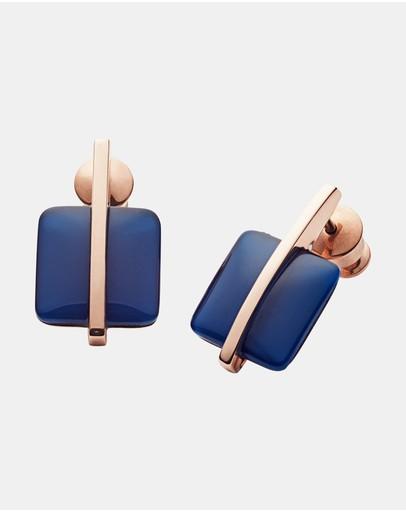 Skagen Sea Glass Rose Gold-tone Earrings Gold