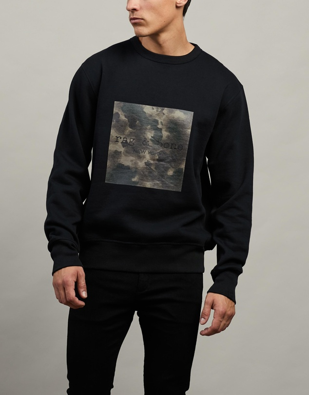 rag & bone - Ink Camo Logo Sweatshirt