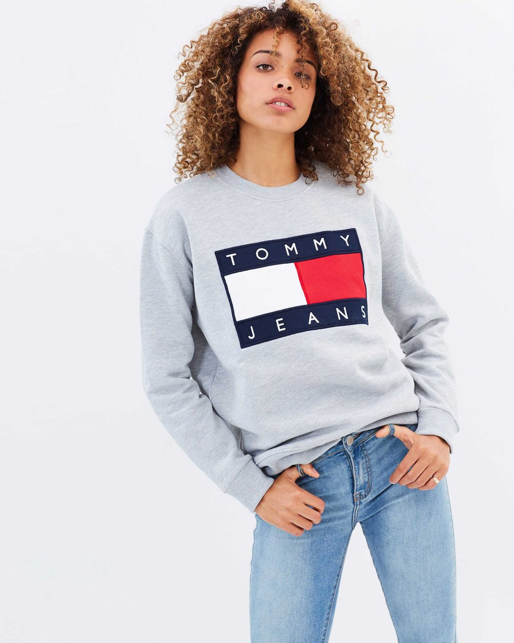 ef50268f8cc7 Tommy Jeans 90s Sweatshirt by Tommy Jeans Online   THE ICONIC   Australia