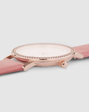 Cluse Le Couronnement Leather - Watches (Pink)
