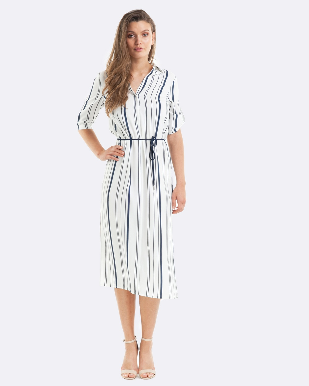 Amelius Alexis Midi Dress Dresses Stripe Alexis Midi Dress