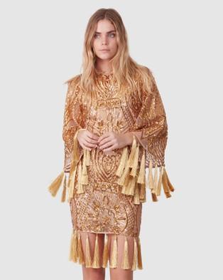 TORANNCE Antique Tassel Mini Dress - Dresses (Gold)