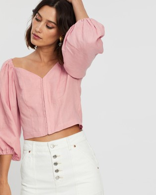 Saroka Rommy Top - Cropped tops (Rose)