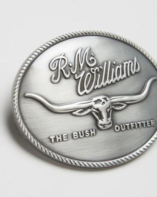 R.M.Williams R.M.Williams Logo Buckle - Belts (Silver)