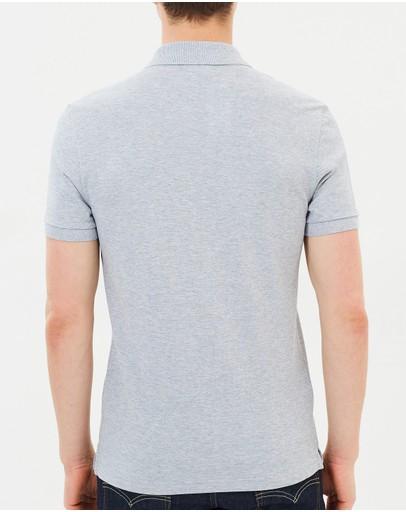 Lacoste Slim Fit Core Polo Silver Chine