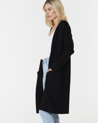 Everly Collective Toronto Long Cardigan - Jumpers & Cardigans (Black)