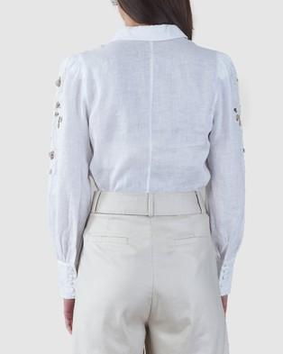 Amelius Bohdi Linen Shirt Shirts & Polos White