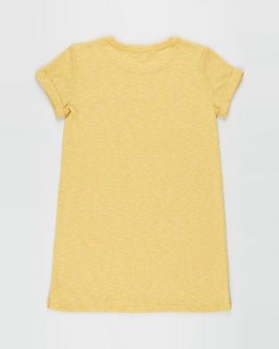 Free by Cotton On - Toni T Shirt Dress   Teens - Dresses (Honey Gold Texture) Toni T-Shirt Dress - Teens