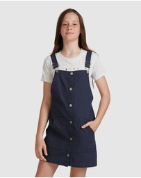 Roxy - Girls 4-14 Full Moon Song Pinafore Dress