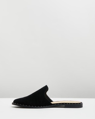 Atmos&Here Marcus Leather Mules - Flats (Black Suede)