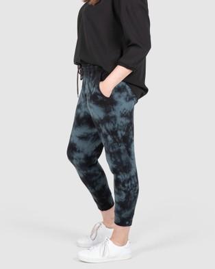 Love Your Wardrobe Carly Tie Dye Joggers - Sweatpants (Charcoal Tie Dye)