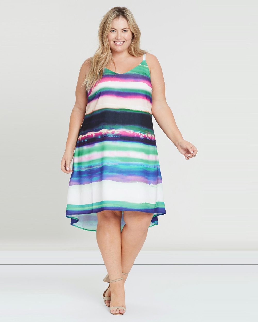 Rebel Wilson x Angels Cami Swing Dress Printed Dresses Watercolour Cami Swing Dress