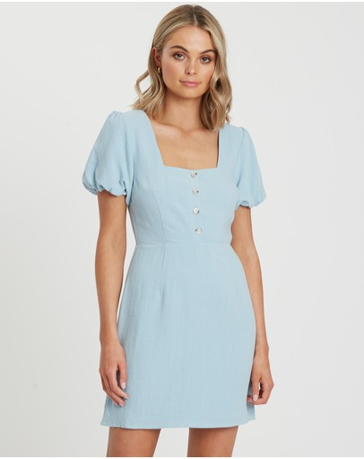 Tussah Vivian Mini Dress Pale Blue