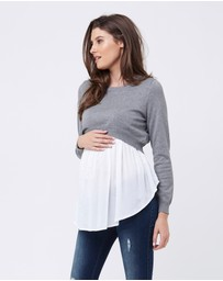 Ripe Maternity - Babydoll Nursing Sweater