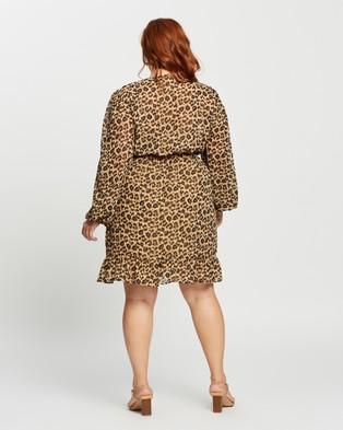 Atmos&Here Curvy Jessy Mini Dress - Printed Dresses (Animal)