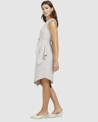 ARIS Layered Snap Belt Dress - Dresses (Beige)