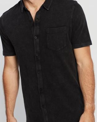 Silent Theory Jersey Short Sleeve Shirt - Shirts & Polos (WASHED BLACK)
