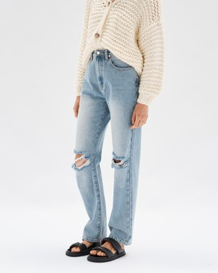 Staple the Label - Muse Distressed Jeans - Slim (Vintage Blue) Muse Distressed Jeans