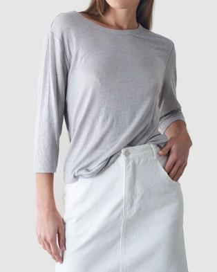 Amelius Bronte Linen T Shirt - T-Shirts & Singlets (Grey)