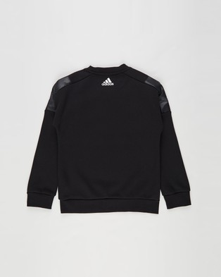 adidas Performance Space Crew Sweatshirt   Kids - Crew Necks (Black & White)