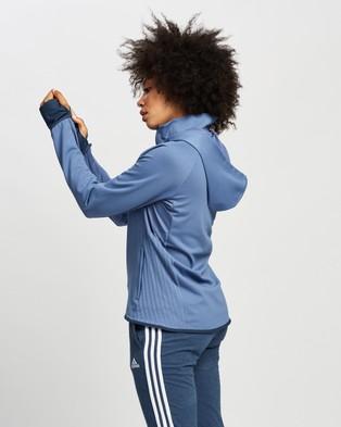 adidas Performance Designed To Move Aeroready Full Zip Hoodie - Coats & Jackets (Crew Blue & White)