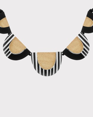 Florence Broadhurst Turnabouts Statement Necklace - Jewellery (Black/White)