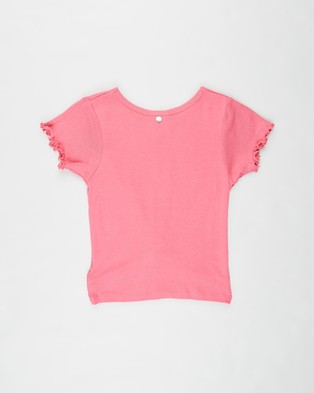 Eve Girl Audrey Twist Tee   Teens - T-Shirts & Singlets (Hot Pink)