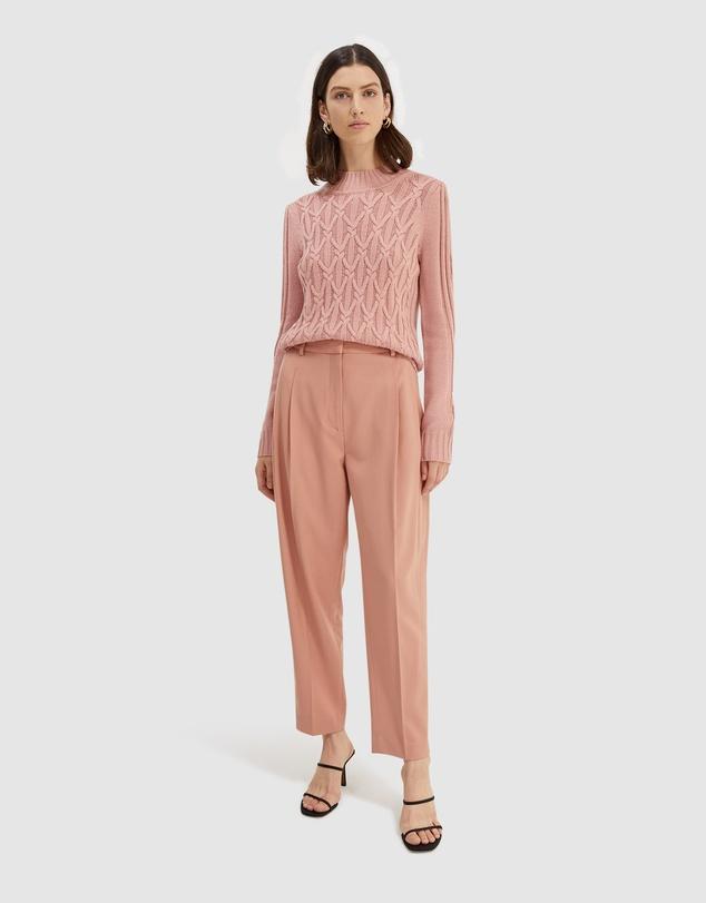 Women Chloe Wool Blend Cable Knit