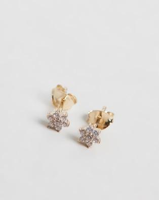 By Charlotte - Lotus Flower 14k Gold Stud Earrings - Jewellery (14k Gold & Crystals) Lotus Flower 14k Gold Stud Earrings
