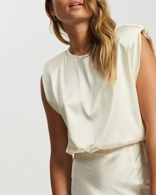 Atmos&Here Poppy Satin Top - Cropped tops (Champagne)